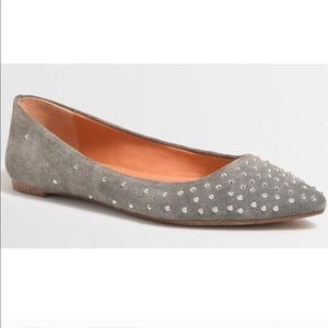 J. Crew Amelia Studded Pointed Flats